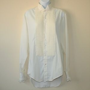 Mens Vintage 1960s Tuxedo Shirt After Six Medium